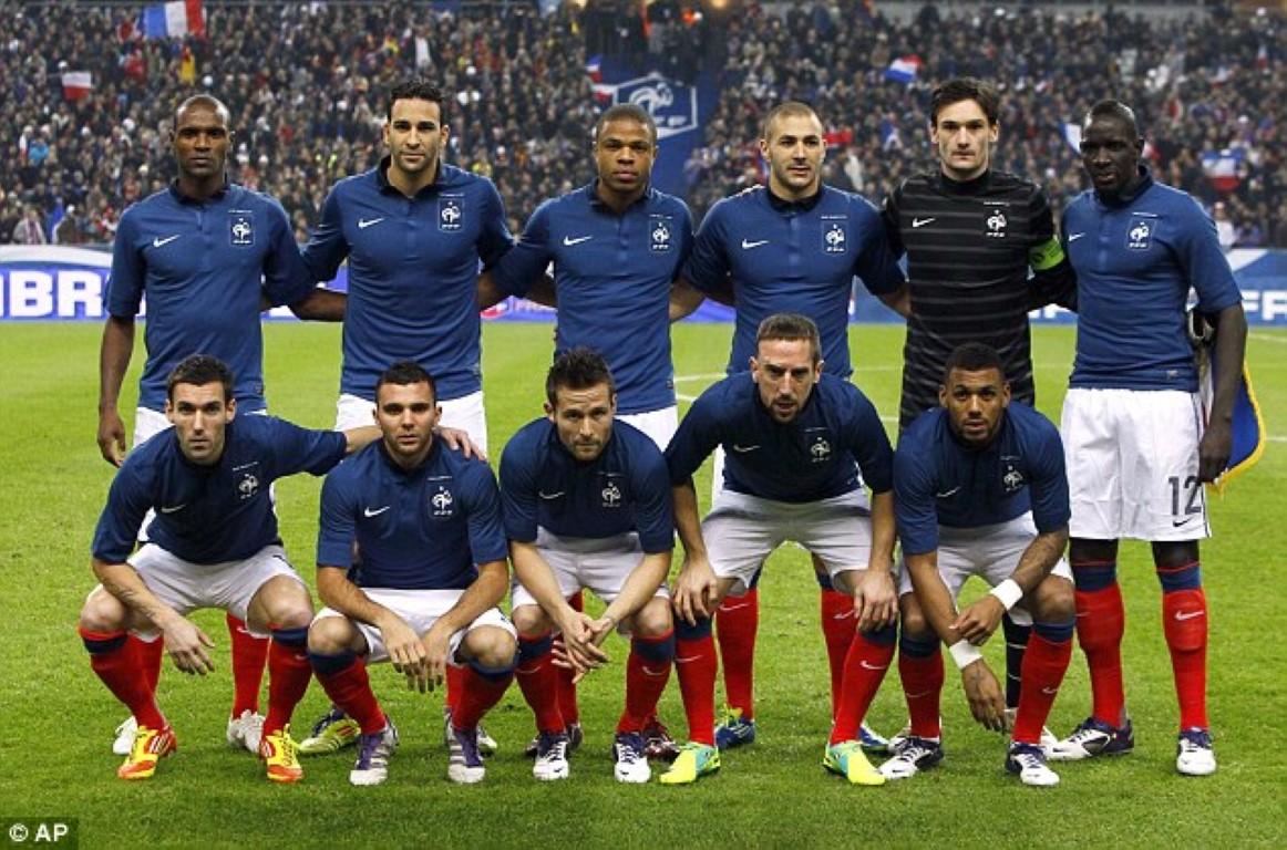 teamfoto voor Frankrijk
