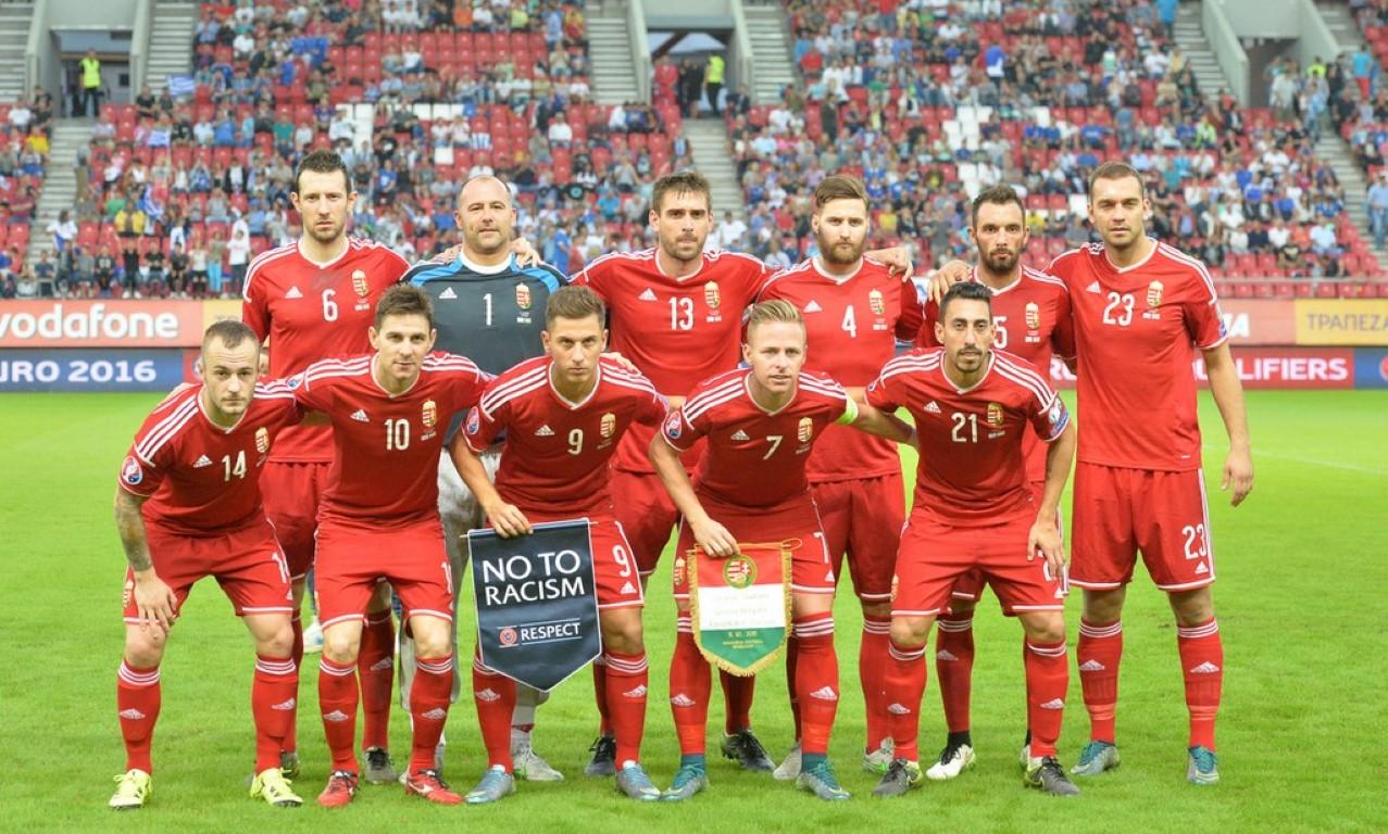 teamfoto voor Hongarije