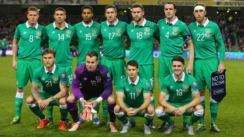 teamfoto voor Ierland