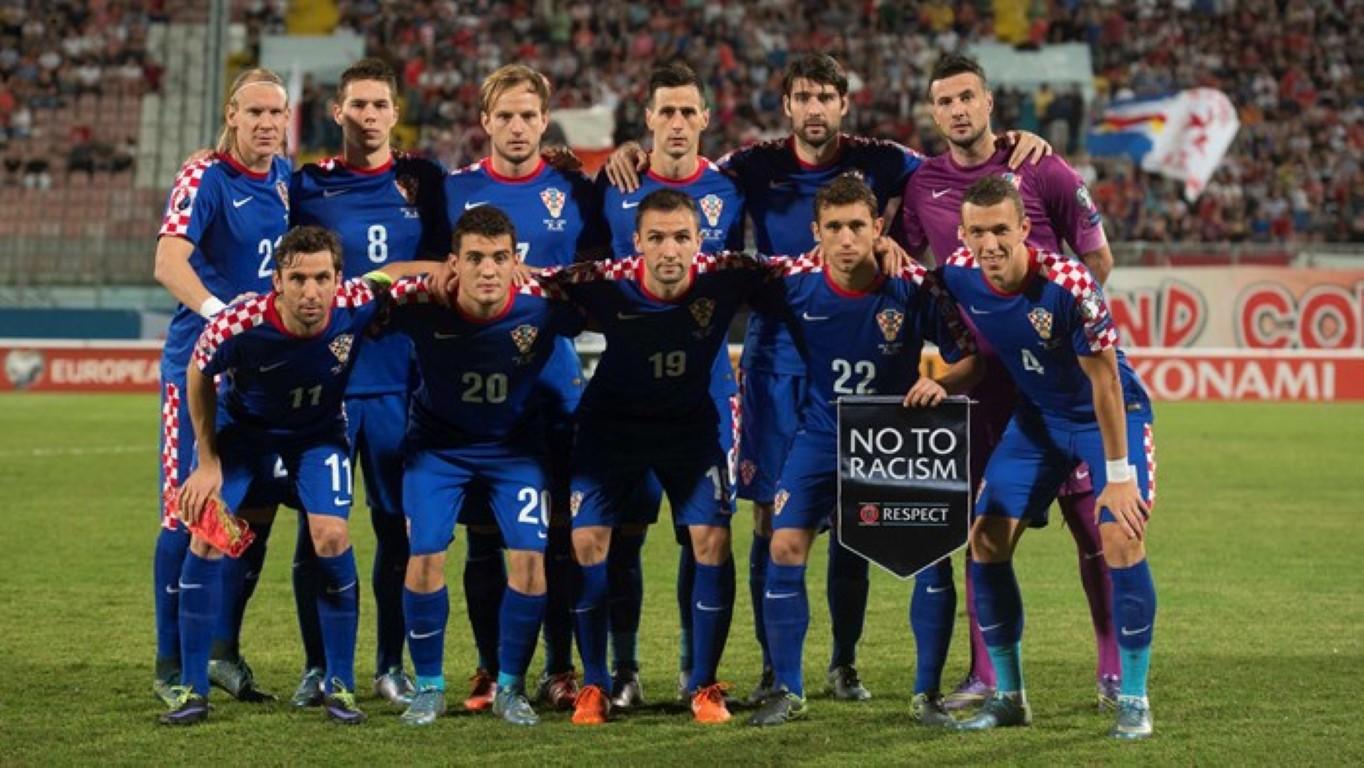 teamfoto voor Kroatië