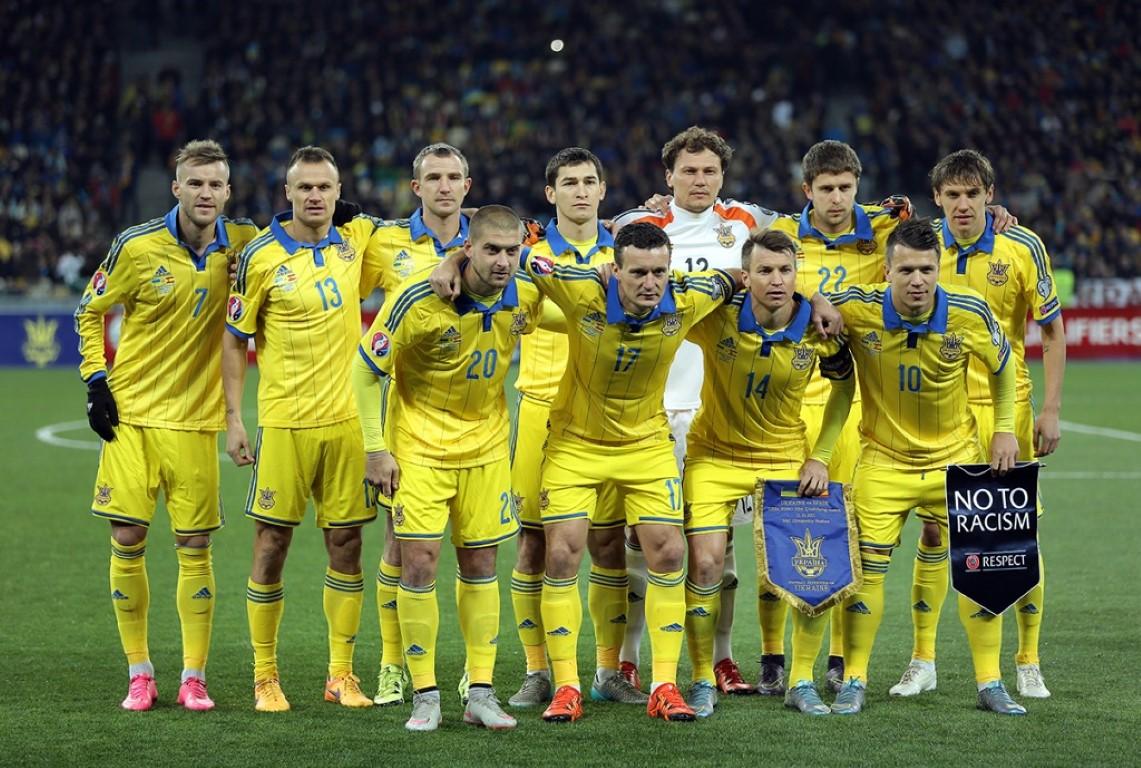 teamfoto voor Oekraïne