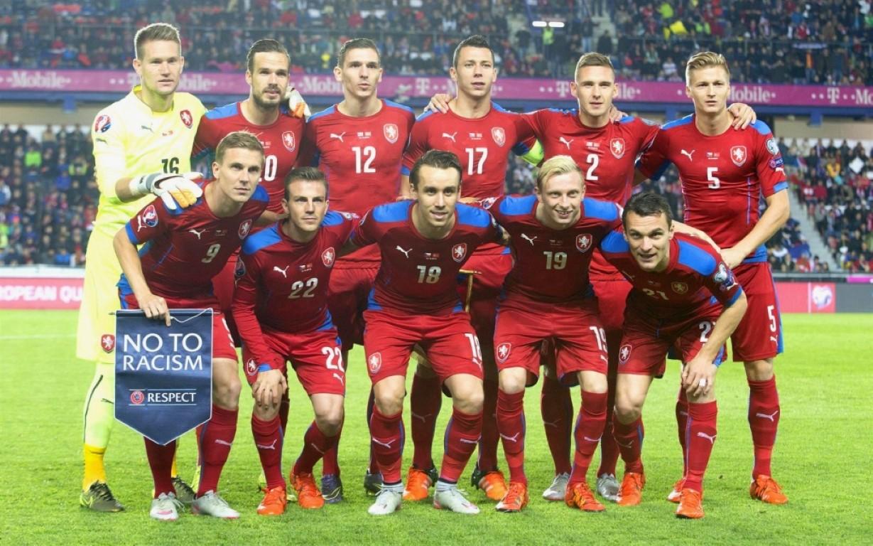 teamfoto voor Tsjechië