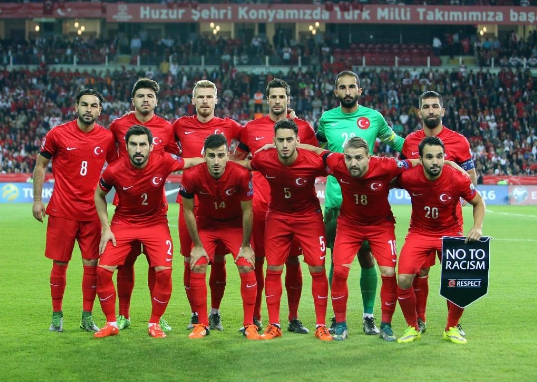 teamfoto voor Turkije