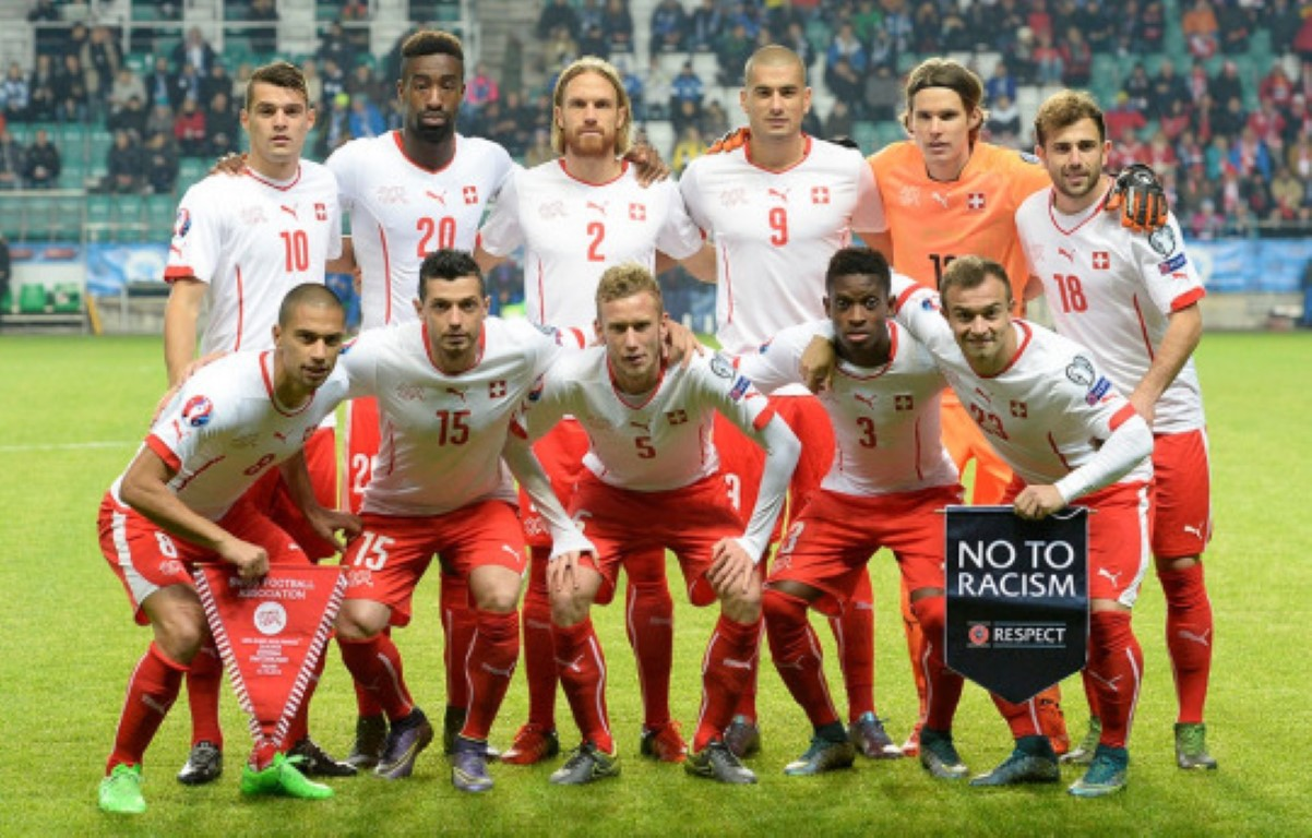 teamfoto voor Zwitserland